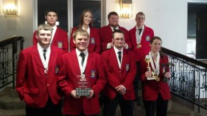 EWC students at the State SkillsUSA competition in Casper Back Row: left to right Tel Vineyard, Jessica Rammell, Kyle Nicolls, and Everett Summers Front Row: left to right Bartton Spracklen, Ross Walker, Aaron Wadhams, and Amber Jerke